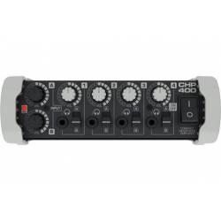 4-cestný slúchadlový zosilňovač Hill-Audio s reguláciou hlasitosti