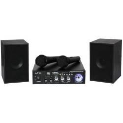 Karaoke set LTC * 2x20W zosilňovač s USB/SD/MP3 * stereo reproduktory * 2x mikrofón