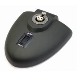 stolný mikrofónový stojan JTS s vypínačom, ocelový ťažký určený ako základňa pod kondenzátorový aj dynamický mikrofon na