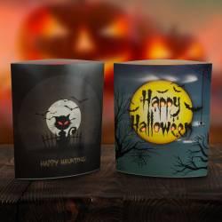 LED dekorácia na stôl halloween - 15 x 16 cm 12 ks / ponuková krabica