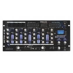 Mix pult BST pre DJ * 6-kanálov * 14-vstupov * 4xMIC, 7xLINE, 2xPHONO, 1xUSB * USB/SD/MP3 player/recorder * Bluetooth