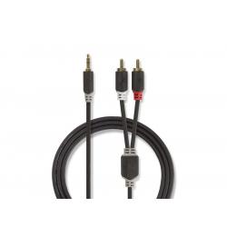 Kábel NEDIS JACK 3.5 stereo/2xCINCH 1m