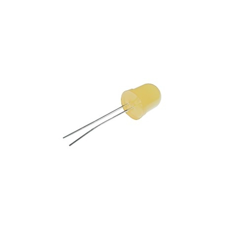 LED 10mm žltá difuzny