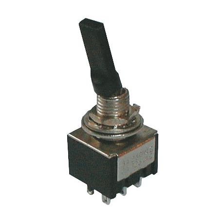 Prepínač páčkový 2pol./6pin ON-ON plastic
