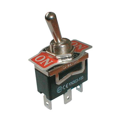 Prepínač páčkový 3pol./3pin ON-OFF-ON 250V/10A