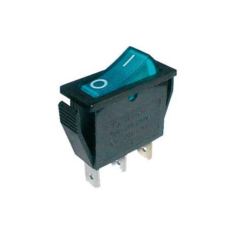 Prepínač kolískový 2pol./3pin ON-OFF 250V/15A pros. modrý