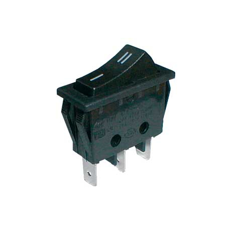 Prepínač kolískový 2pol./3pin ON-ON 250V/15A čierny