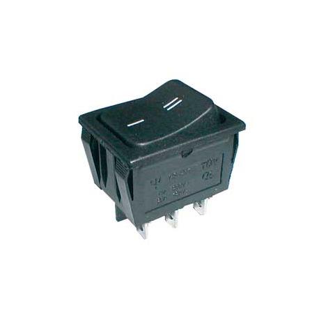 Prepínač kolískový 2pol./6pin ON-ON 250V/15A čierny