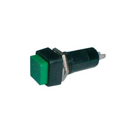 Prepínač tlačidlo štvorec OFF-(ON) 250V/1A zelené