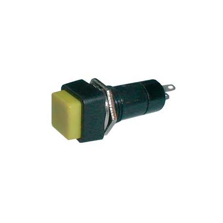 Prepínač tlačidlo štvorec OFF-(ON) 250V/1A žlté
