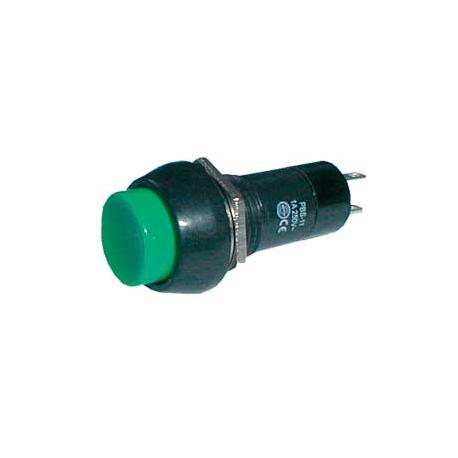 Prepínač tlačidlo okrúhle ON-OFF 250V/1A zelené
