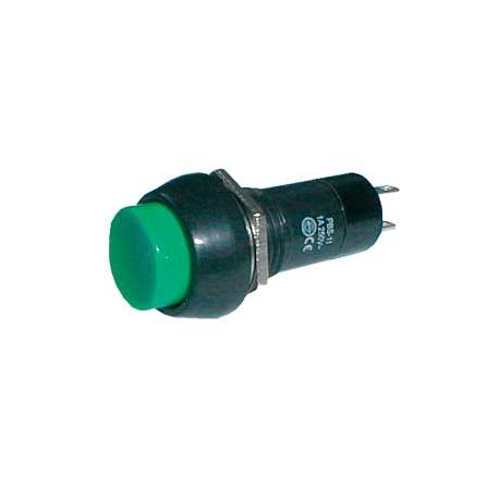 Prepínač tlačidlo okrúhle OFF-(ON) 250V/1A zelené