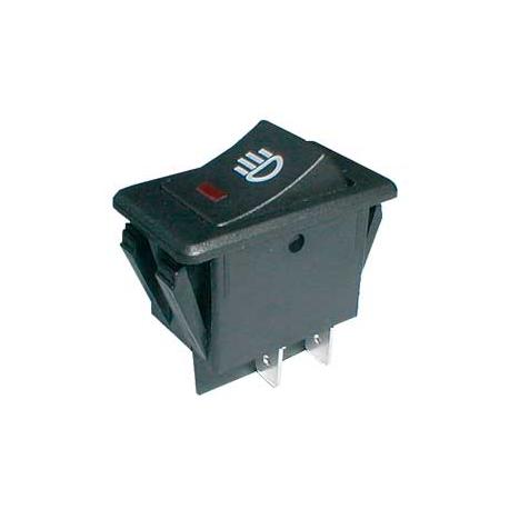 Prepínač kolískový ON-OFF 35A/12VDC pros. bod červený