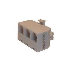 Redukcia telefónna konektor/ 3xzdierka 6p-4c