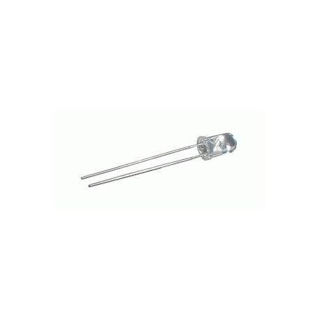LED 5mm modrá 8000mcd/20° číra