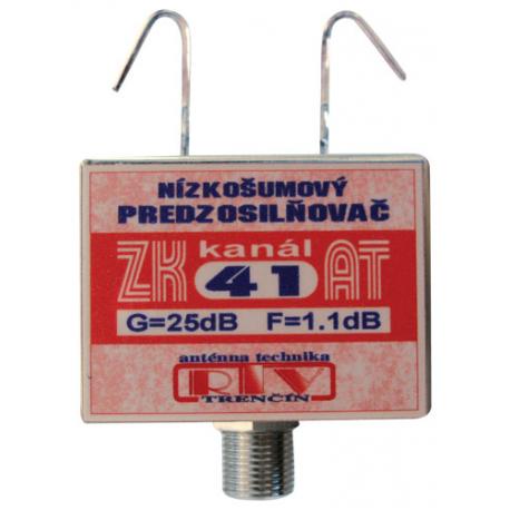 Anténny zosilňovač RTV ELEKTRONICS ZK41AT 25dB F