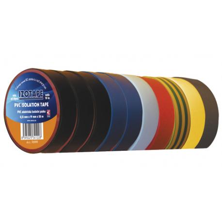 Páska izolačná PVC 19/20m farebný mix EMOS 10ks