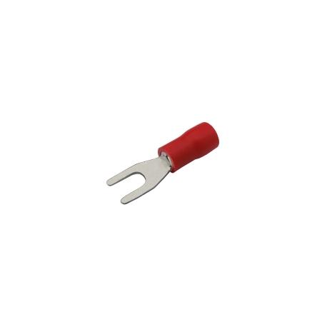 Vidlička 3.2mm, vodič 0.5-1.5mm červená