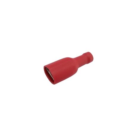 Zdierka faston 6.3mm izol., vodič 0.5-1.5mm červená