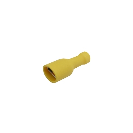 Zdierka faston 6.3mm izol., vodič 4.0-6.0mm žltá