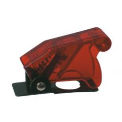 Prepínač páčkový ochran.kryt - transp. červená