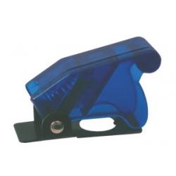 Prepínač páčkový ochran.kryt - transp. modrá