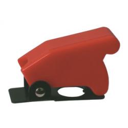 Prepínač páčkový ochran.kryt - červený