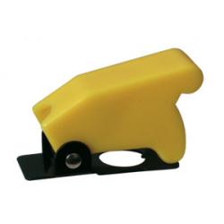 Prepínač páčkový ochran.kryt - žltý