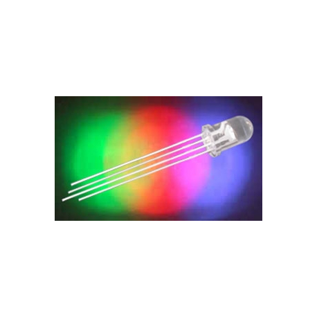 LED 5mm RGB 1500/5000mcd/30° číra, 20mA