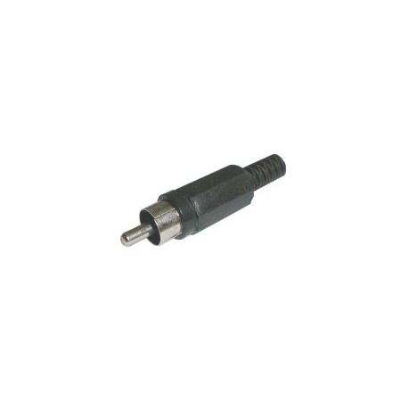 Konektor CINCH kabel plast čierny