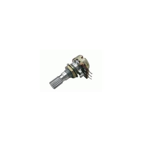 Potenciometer 500K/N mono 6/20mm