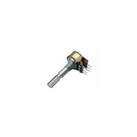 Potenciometer 500K/N stereo 6/30mm