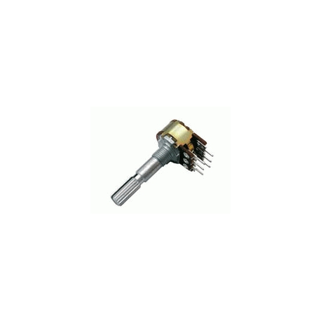 Potenciometer 5K/N stereo 6/30mm