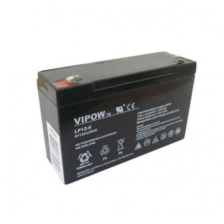 Batéria olovená 6V 12Ah VIPOW