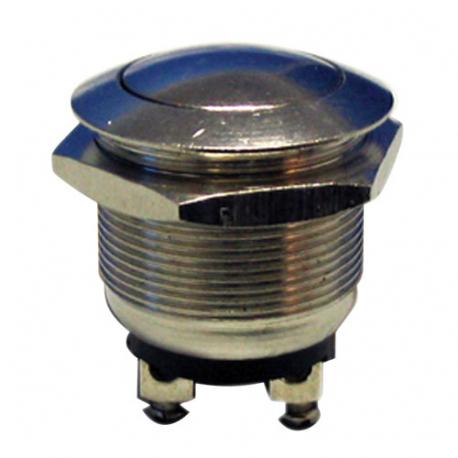 Prepínač tlačidlo okrúhle OFF-(ON) kov-typ1 (12V)