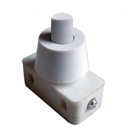 Prepínač tlačidlo okrúhle typ-1 ON-OFF 250V/1A biele