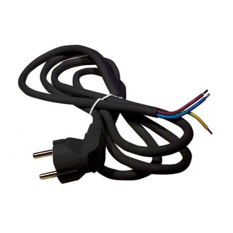 Flexo šnúra PVC 3x1,0mm 2m čierna