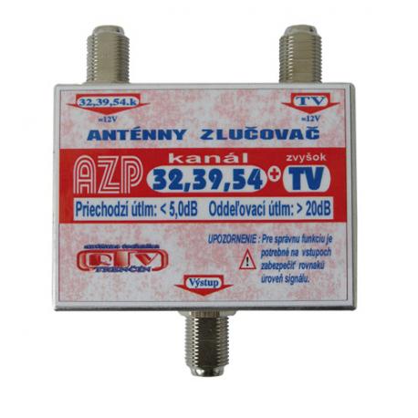Anténny zlučovač AZP32,39,54+TV F-F