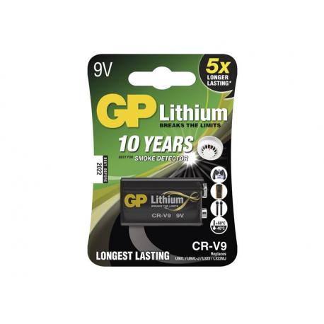 Batérie lítiová 6F22 9V/800mAh GP CR-V9