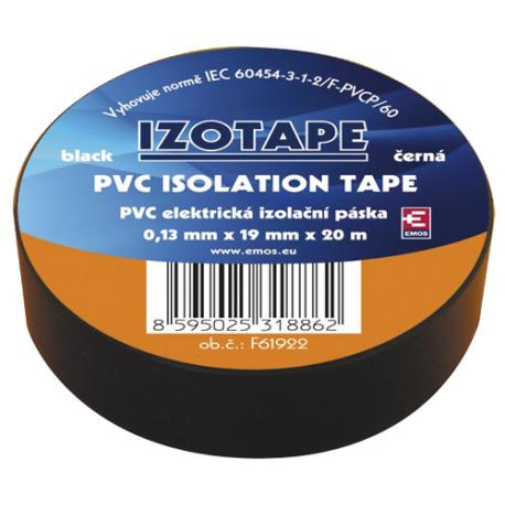 Páska izolačná PVC 19/20m čierna EMOS