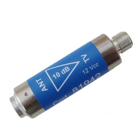 Anténny predzosilňovač Emme Esse 81942L, +12dB, UHF, filtr LTE, Fm-Ff, valček, 12V/22mA