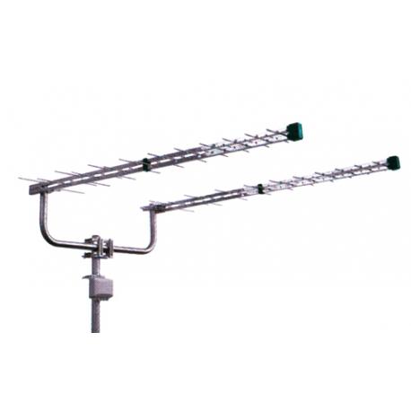 Anténa vonkajšia Emme Esse 2160KITL (antenní dvojča logperi 2x1310mm, konzola, zlučovač)