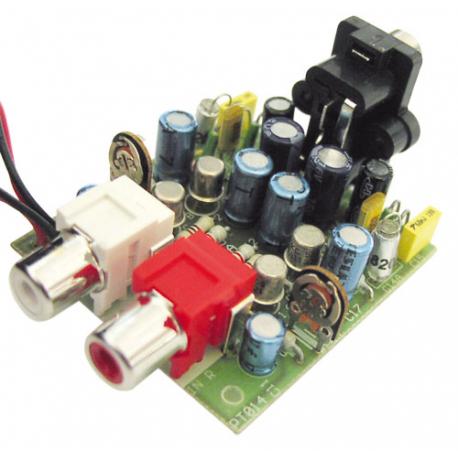 Stavebnica TIPA PT014 Predzosilňovač pre gramofón s magnetodynamickou prenoskou