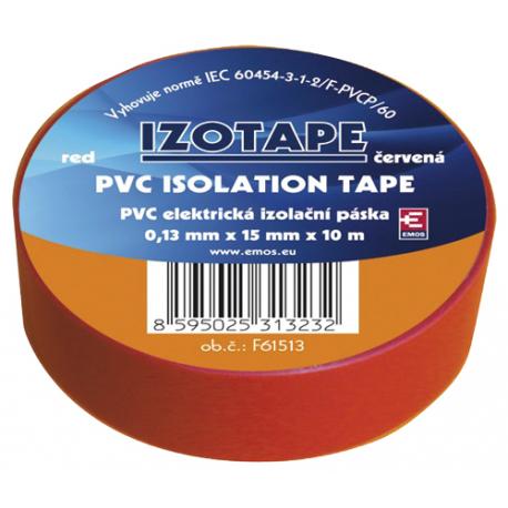 Páska izolačná PVC 15/10m červená EMOS