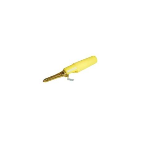 Krokosvorka izolovaná na banánik žltá