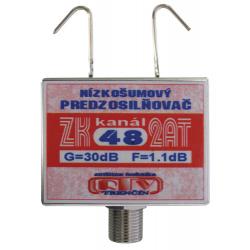 Anténny zosilňovač RTV ELEKTRONICS ZK48 2AT 30dB F