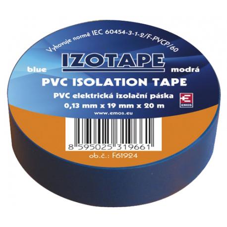 Páska izolačná PVC 19/20m modrá EMOS