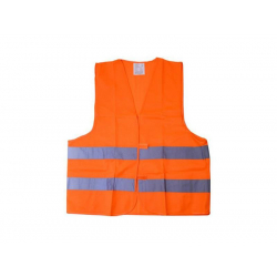 Reflexná výstražná vesta oranžová COMPASS 01511