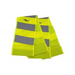 Reflexný pás s magnetmi žltý 2ks