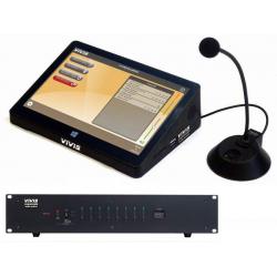 Digitálny rozhlas * PC pult s dotykovým LCD * riadiaci software VIVIS * 4-zónová spínacia jednotka